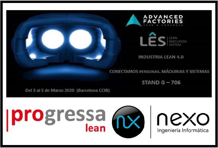LÊS estará en la Feria Advanced Factories durante el 3, 4 y 5 de Marzo en CCIB Barcelona
